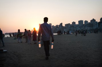 Holy Water on Chowpatty Beach