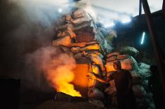 Aluminium worker in Dharavi, Indias largest slum